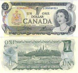 1973 -  1973 1-DOLLAR NOTE, CROW/BOUEY (CUNC)