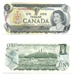 1973 -  1973 1-DOLLAR NOTE, CROW/BOUEY (GUNC)