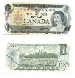 1973 -  1973 1-DOLLAR NOTE, CROW/BOUEY (UNC)