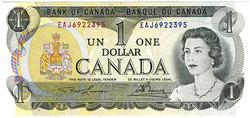 1973 -  1973 1-DOLLAR NOTE, LAWSON/BOUEY (CUNC)