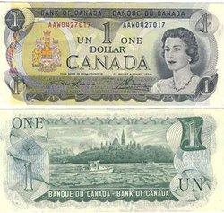 1973 -  1973 1-DOLLAR NOTE, LAWSON/BOUEY (EF)