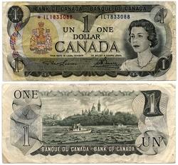 1973 -  1973 1-DOLLAR NOTE, LAWSON/BOUEY (F)