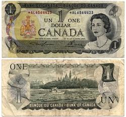1973 -  1973 1-DOLLAR NOTE, LAWSON/BOUEY (VG)
