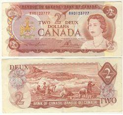 1974 -  1974 2-DOLLAR NOTE, LAWSON/BOUEY (F)