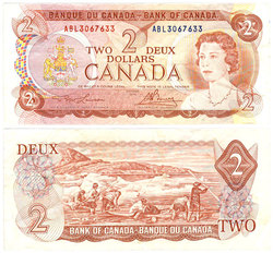 1974 -  1974 2-DOLLAR NOTE, LAWSON/BOUEY (VF)
