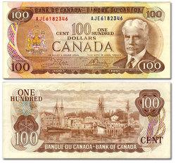 1975 -  1975 100-DOLLAR NOTE, CROW/BOUEY (EF)