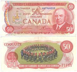 1975 -  1975 50-DOLLAR NOTE, LAWSON/BOUEY (EF)
