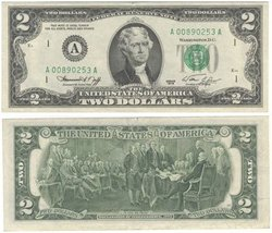 1976 -  2 DOLLARS OF THE UNITED STATES (EF)