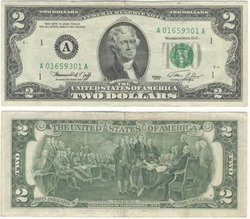 1976 -  2 DOLLARS OF THE UNITED STATES