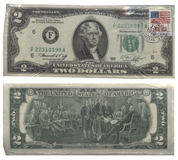 1976 -  UNITED STATES 1976 2-DOLLAR BILL, PACK OF 100 NOTES (UNC)