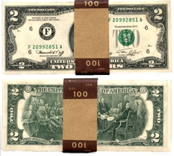 1976 -  UNITED STATES 1976 2-DOLLAR BILL, PACK OF 50 NOTES (UNC)