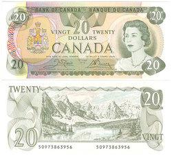 1979 -  1979 20-DOLLAR NOTE, CROW/BOUEY (CUNC)