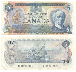 1979 -  1979 5-DOLLAR NOTE, LAWSON/BOUEY (F)