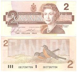1986 -  1986 2-DOLLAR NOTE, BONIN/THIESSEN (AU)