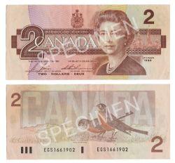 1986 -  1986 2-DOLLAR NOTE, BONIN/THIESSEN (VF)