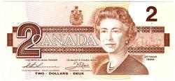 1986 -  1986 2-DOLLAR NOTE, THIESSEN/CROW (CUNC)