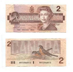 1986 -  1986 2-DOLLAR NOTE, THIESSEN/CROW (F)