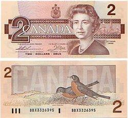 1986 -  1986 2-DOLLAR NOTE, THIESSEN/CROW (UNC)
