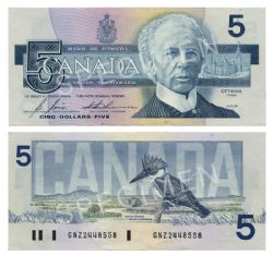 1986 -  1986 5-DOLLAR NOTE, BONIN/THIESSEN (AU)