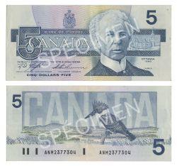 1986 -  1986 5-DOLLAR NOTE, KNIGHT/THIESSEN (EF)