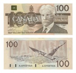 1988 -  1988 100-DOLLAR NOTE, THIESSEN/CROW (EF)