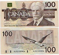 1988 -  1988 100-DOLLAR NOTE, THIESSEN/CROW (UNC)