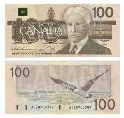 1988 -  1988 100-DOLLAR NOTE, THIESSEN/CROW (VF)