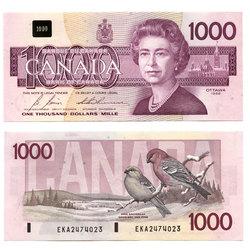 1988 -  1988 1000-DOLLAR NOTE, BONIN/THIESSEN (UNC)