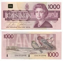 1988 -  1988 1000-DOLLAR NOTE, BONIN/THIESSEN (VF)