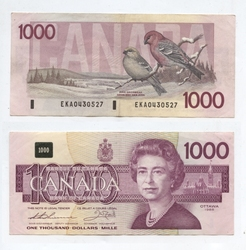 1988 -  1988 1000-DOLLAR NOTE, THIESSEN/CROW (F)