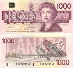 1988 -  1988 1000-DOLLAR NOTE, THIESSEN/CROW (UNC)