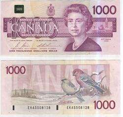 1988 -  1988 1000-DOLLAR NOTE, THIESSEN/CROW (VF)