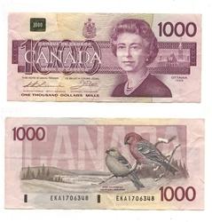 1988 -  1988 1000-DOLLAR NOTE, THIESSEN/CROW (VG)