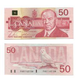 1988 -  1988 50-DOLLAR NOTE, BONIN/THIESSEN (EF)