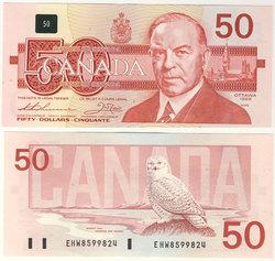 1988 -  1988 50-DOLLAR NOTE, THIESSEN/CROW (CUNC)
