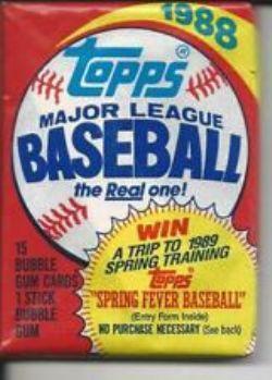 1988 BASEBALL -  TOPPS BASEBALL WAX PACK