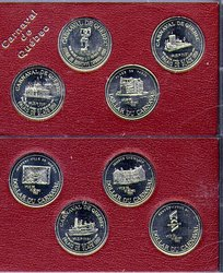 1988 QUEBEC CARNIVAL 4-COIN SET