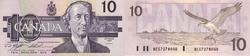 1989 -  1989 10-DOLLAR NOTE, KNIGHT/THIESSEN (CUNC)
