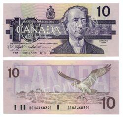 1989 -  1989 10-DOLLAR NOTE, KNIGHT/THIESSEN (GUNC)