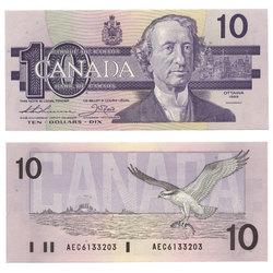 1989 -  1989 10-DOLLAR NOTE, THIESSEN/CROW (CUNC)