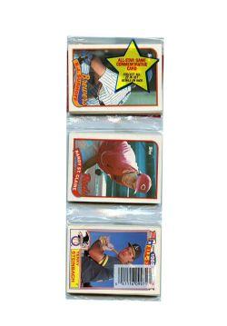1989 BASEBALL -  TOPPS RACK PACK - (P43)
