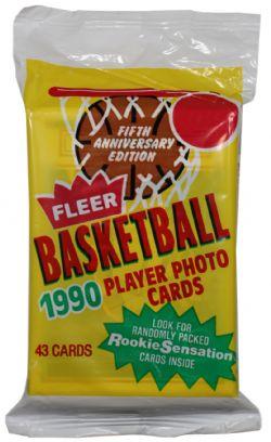 1990-91 BASKETBALL -  FLEER - JUMBO PACK