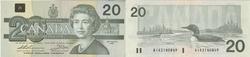 1991 -  1991 20-DOLLAR NOTE, THIESSEN/CROW (EF)