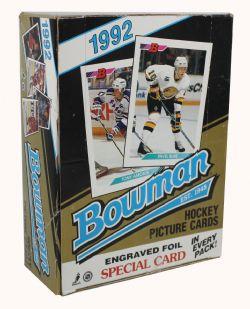 1992-93 HOCKEY -  BOWMAN - 36 PACKS BOX