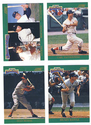 1992 BASEBALL -  SCORE FRANCHISE SET (4 CARDS)