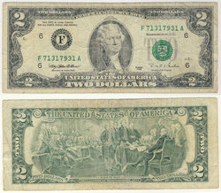 1995 -  UNITED STATES 2-DOLLAR BILL