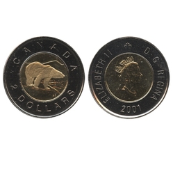 2-DOLLAR -  2001 2-DOLLAR - PROOF-LIKE (PL) -  2001 CANADIAN COINS