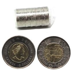 2-DOLLAR -  2015 2-DOLLAR ORIGINAL ROLL - IN FLANDERS FIELDS -  2015 CANADIAN COINS