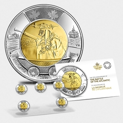 2-DOLLAR -  2016 2-DOLLAR - BATTLE OF THE ATLANTIC - SET OF FIVE COINS -  2016 CANADIAN COINS