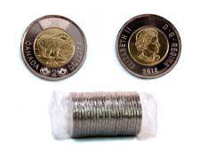 2-DOLLAR -  2018 CLASSIC 2-DOLLAR ORIGINAL ROLL -  2018 CANADIAN COINS